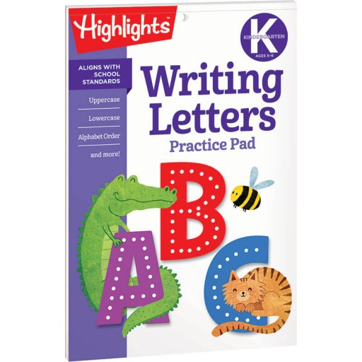 Writing Letters Practice Pad for Kindergarten