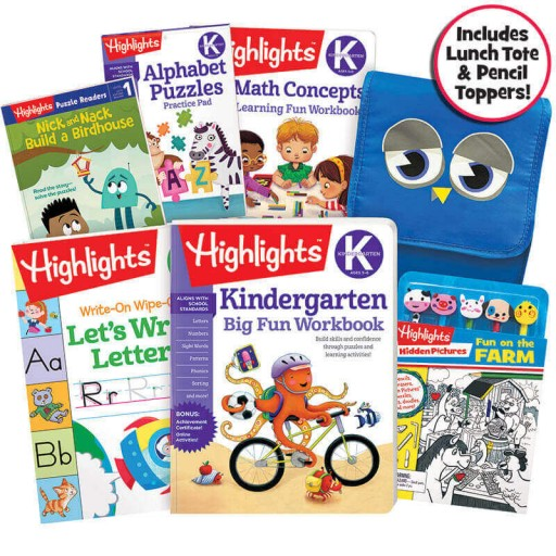 School Success Pack, Kindergarten, with 5 books, lunch tote, and puzzle and pencil kit
