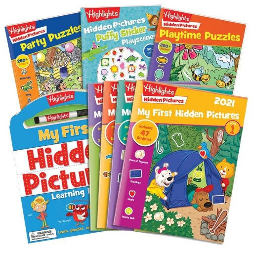 My First Hidden Pictures Gift Set with 4 books and My First Hidden Pictures 2021 4-book set