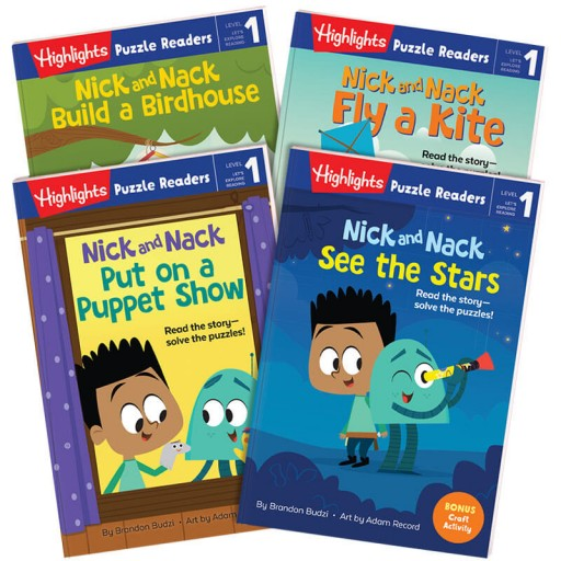 Highlights Puzzle Readers: Nick and Nack 4-book set