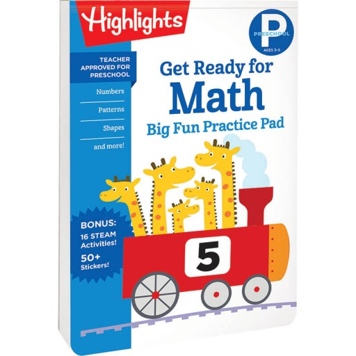 Preschool Big Fun Practice Pad: Get Ready for Math book