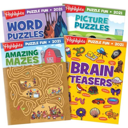 Puzzle Fun 2021 4-Book Set