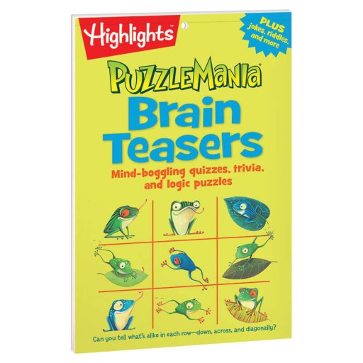 Puzzlemania Brain Teasers Puzzle Pad