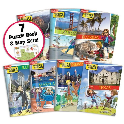 Which Way USA: Travel Collection includes 7 state sets
