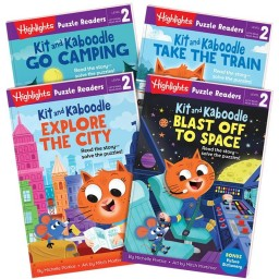 Highlights Puzzle Readers: Kit and Kaboodle 4-book set