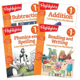 Learning Fun Workbooks First Grade 4-Book Set