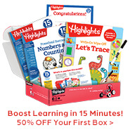 Give them a fresh batch of learning fun designed for their age – 50% OFF your first box!