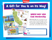 Which Way USA Certificate Anytime Gift Announcement