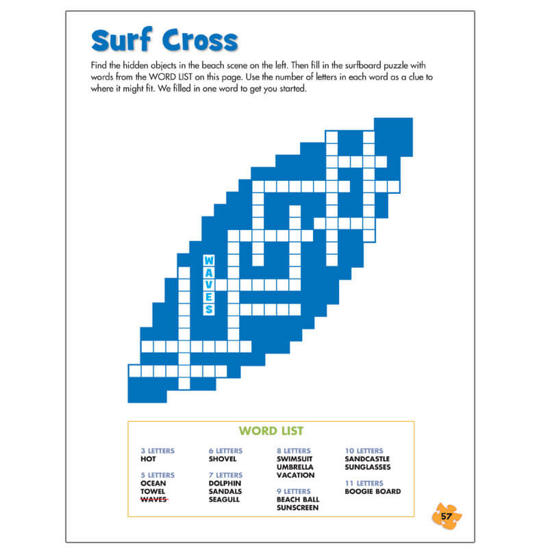 Puzzlemania summer puzzles highlights for children the best summer themed puzzles are right here ccuart Image collections